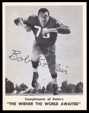 Bob St. Clair 1963 Kahns football card