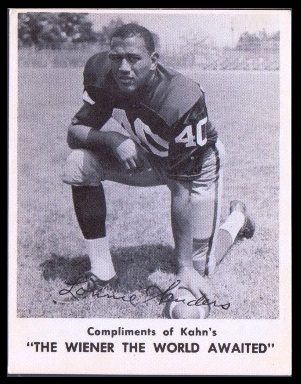 Lonnie Sanders 1963 Kahns football card