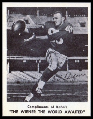 Del Shofner 1963 Kahns football card