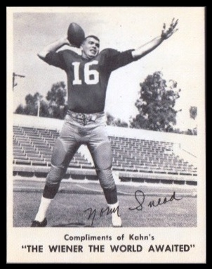 Norm Snead 1963 Kahns football card