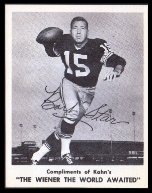 Bart Starr 1963 Kahns football card