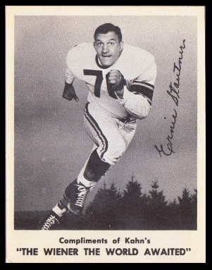 Ernie Stautner 1963 Kahns football card