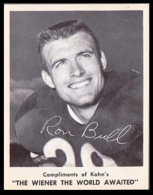 Ron Bull 1963 Kahns football card