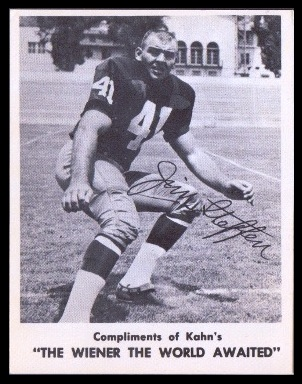 Jim Steffen 1963 Kahns football card