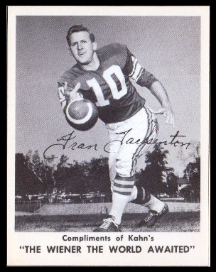 Fran Tarkenton 1963 Kahns football card