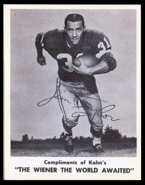 Jim Taylor 1963 Kahns football card