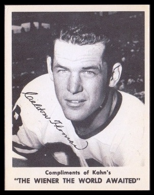 Clendon Thomas 1963 Kahns football card