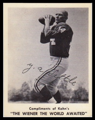 Y.A. Tittle 1963 Kahns football card