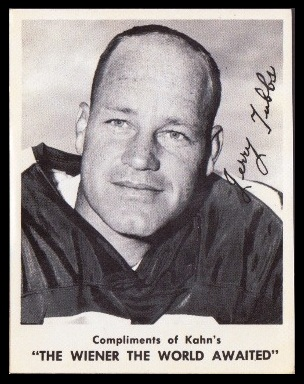 Jerry Tubbs 1963 Kahns football card
