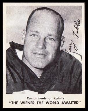 Jerry Tubbs 1963 Kahns football card