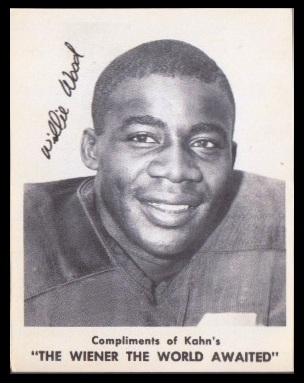 Willie Wood 1963 Kahns football card