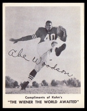 Abe Woodson 1963 Kahns football card