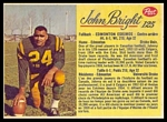 1963 Post CFL John Bright