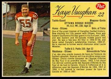 Doug Daigneault 1963 Post CFL football card