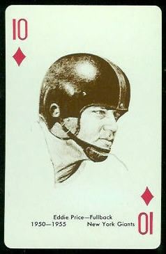 Eddie Price 1963 Stancraft football card