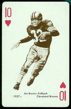 Jim Brown 1963 Stancraft football card