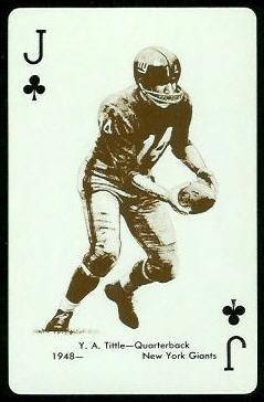 Y.A. Tittle 1963 Stancraft football card