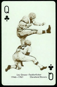 Lou Groza 1963 Stancraft football card