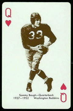 Sammy Baugh 1963 Stancraft football card