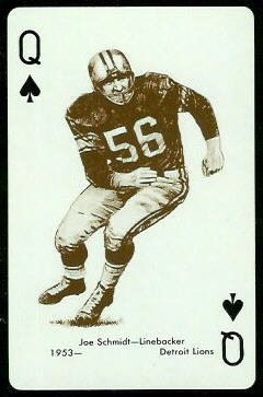 Joe Schmidt 1963 Stancraft football card