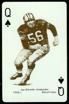 Joe Schmidt 1963 Stancraft football card