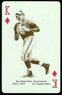 Bob Waterfield 1963 Stancraft football card
