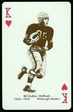 Bill Dudley 1963 Stancraft football card