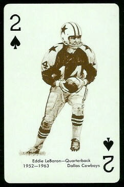 Eddie LeBaron 1963 Stancraft football card