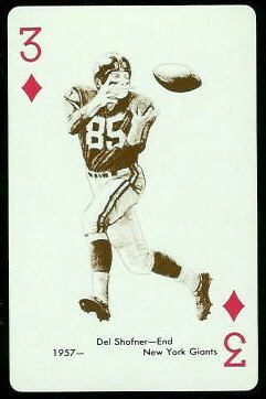 Del Shofner 1963 Stancraft football card