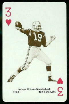 John Unitas 1963 Stancraft football card