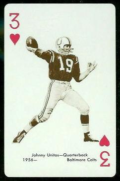 John Unitas 1963 Stancraft football card