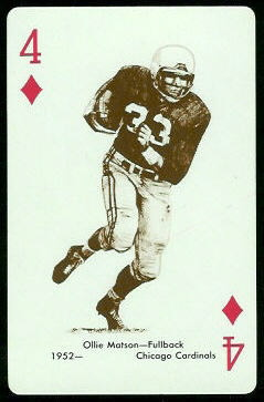Ollie Matson 1963 Stancraft football card