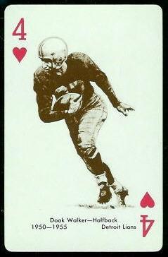 Doak Walker 1963 Stancraft football card