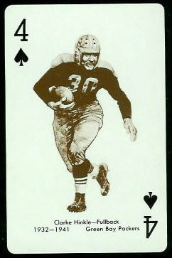 Clarke Hinkle 1963 Stancraft football card