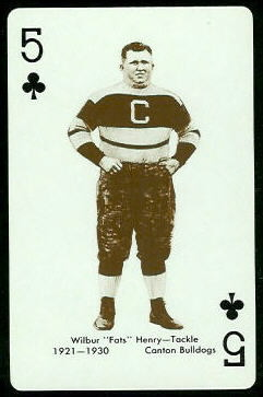 Fats Henry 1963 Stancraft football card