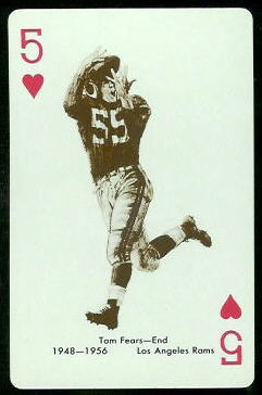 Tom Fears 1963 Stancraft football card