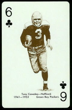 Tony Canadeo 1963 Stancraft football card