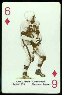 Otto Graham 1963 Stancraft football card