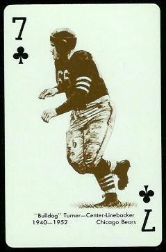 Bulldog Turner 1963 Stancraft football card