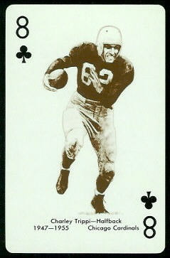 Charley Trippi 1963 Stancraft football card