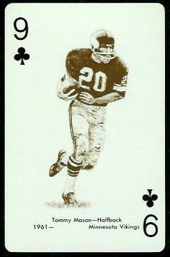 Tommy Mason 1963 Stancraft football card