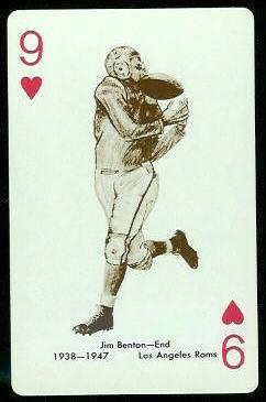 Jim Benton 1963 Stancraft football card
