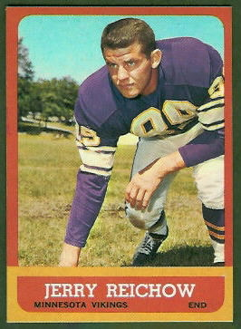 Jerry Reichow 1963 Topps football card
