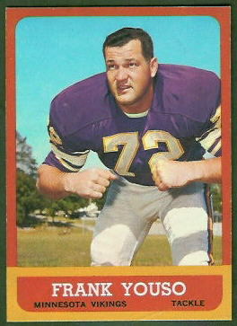 Frank Youso 1963 Topps football card