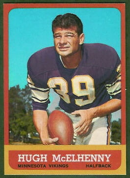 Hugh McElhenny 1963 Topps football card