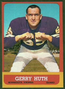 Gerry Huth 1963 Topps football card