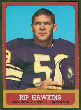 Rip Hawkins 1963 Topps football card