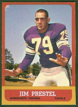 Jim Prestel 1963 Topps football card
