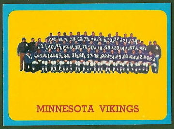 Minnesota Vikings Team 1963 Topps football card