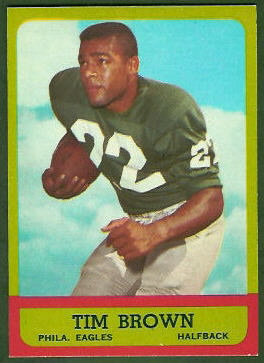Timmy Brown 1963 Topps football card